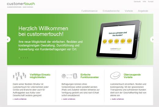 Fünf Sterne: Customertouch ermöglicht Kundenbefragungen per iPad