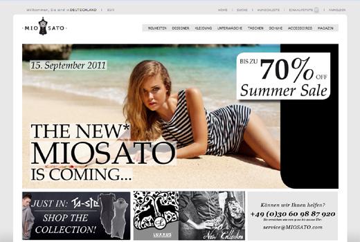 Offline! Designer-Shop Miosato segnet das Zeitliche