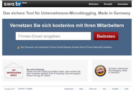 """""""Facebook für Unternehmen"""": swabr bringt Echtzeit-Kommunikation in die Firma"""