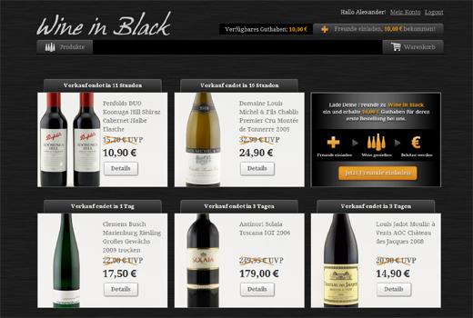 Wine in Black verkauft Weine – eVenture, Stefan Glänzer und kaufDa-Gründer unterstützen das Start-up