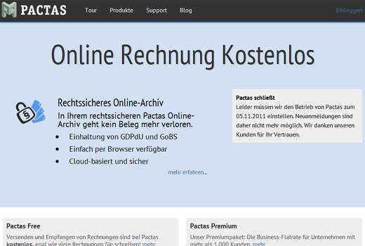 Pactas am Ende – Münchner Rechnungs-Start-up gibt im November 2011 auf