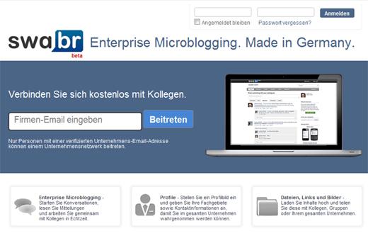 Microblogging für Firmen: Swabr startet in die offene Betaphase