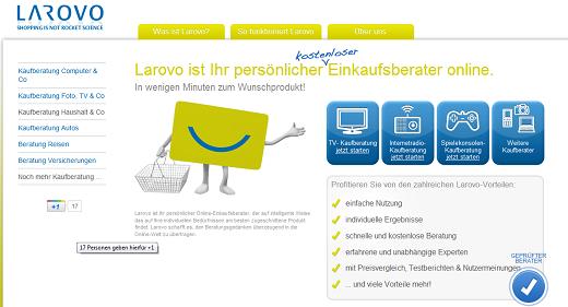 Mehr als nur ein weiterer Produktvergleich: Larovo berät beim Kauf von Elektronikprodukten