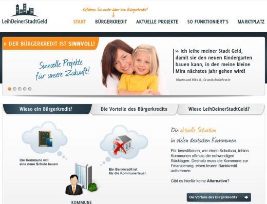 Bei LeihDeinerStadtGeld helfen Menschen ihrer Kommune mit Bürgerkrediten aus