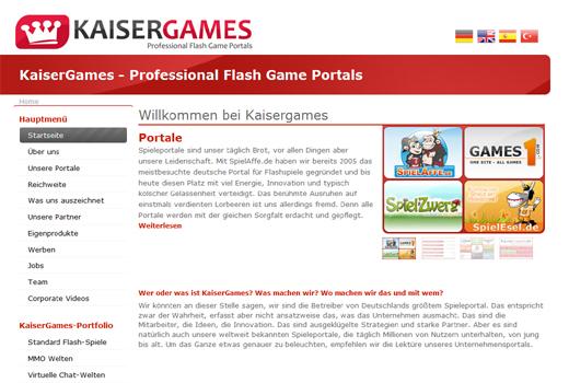 Eine Million Besucher pro Tag: SpielAffe.de von Kaisergames zieht ab