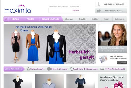 Maximila kleidet Frauen mit großer Oberweite ein