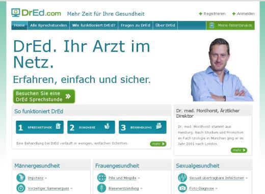 Telemedizin auf dem Vormarsch: DrEd lädt zur Online-Sprechstunde ein