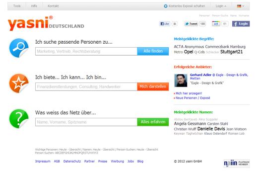 Kurzmitteilungen: yasni.de, Betreut.de, Brille24.de, Hamburg Games Conference, StartUp-Kicker-Turnier