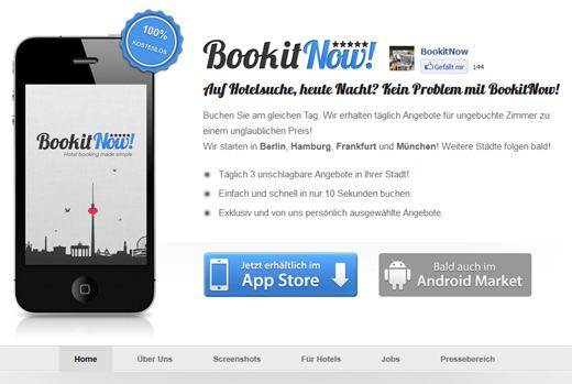 Konkurrenz für JustBook: Dank BookitNow! spontan und schnell ins Hotel