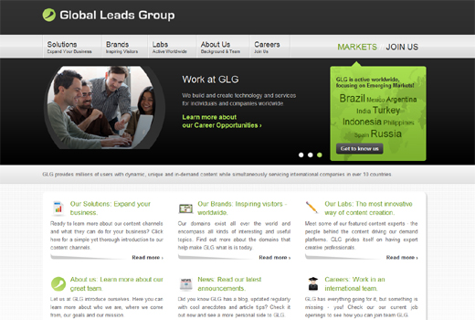 Kurzmitteilungen: Global Leads Group, GetYourGuide, Axel Springer Digital Classifieds, wimdu, Eyemade
