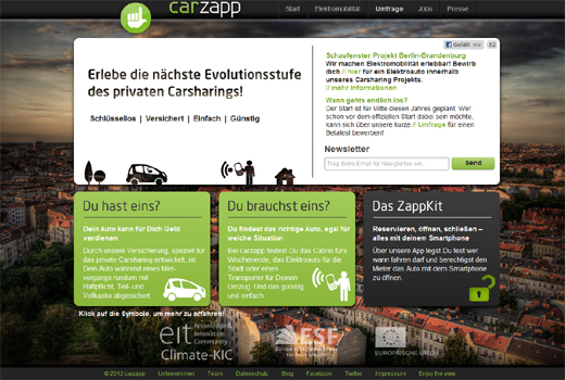 Carsharing noch komfortabler: carzapp macht die Schlüsselübergabe überflüssig