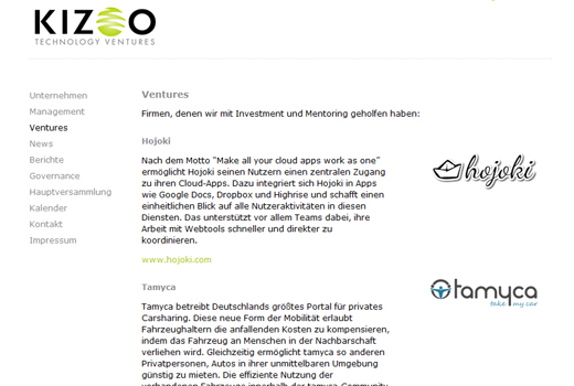 Kurzmitteilungen: Kizoo, SevenVentures, myON-ID, rankseller, Tjingo.nl