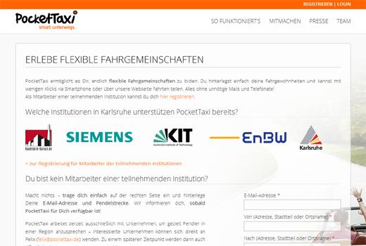 5 neue Start-ups: PocketTaxi, transfairo, Vitabote, ParkingCrew, haircare4me