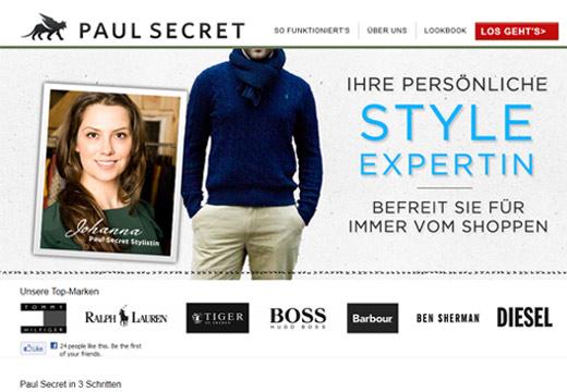 Paul Secret macht Männern Bekleidungs-Shopping leicht