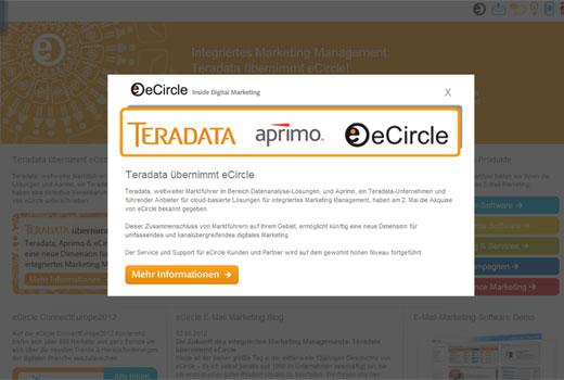 Kurzmitteilungen: eCircle, Teradata, my-artmap, Monoqi