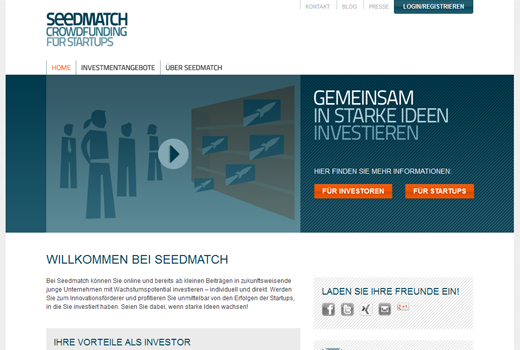 Seedmatch: Eine Million Euro von Privatinvestoren zusammengetragen