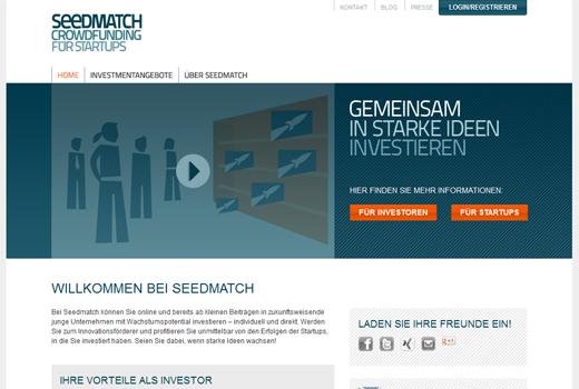 Seedmatch: Eine Million Euro von Privatinvestoren zusammengetragen
