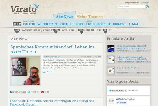 News-Aggregator virato legt unter dem Dach von dw capital einen Neustart hin
