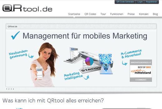 QRtool ist eine komplexe SAAS-Management-Lösung für mobiles Marketing