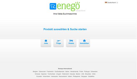 Renego: Branchenübergreifende Meta-Suche mit Potential