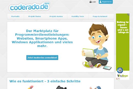 Coderado.de: Neue Vermittlungsplattform für Programmier-Dienstleistungen