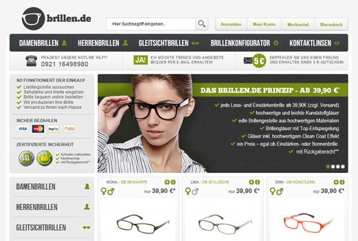 Brille online bestellen, in der brillen.de-Filiale anpassen lassen