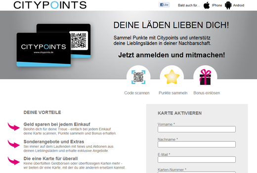 Mit Citypoints sammelt nun auch Found Fair digitale Punkte