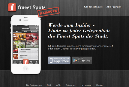 Nach Gigalocal kommt Finest Spots – Smartphone-App findet coole Restaurants