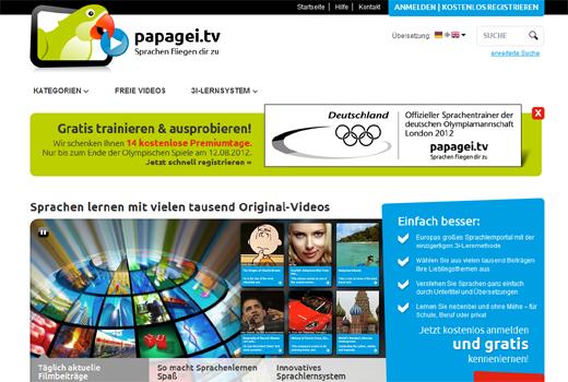 Plappern wie ein Papagei – mit papagei.tv Sprachen lernen