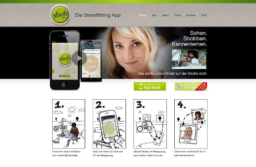 Die Streetflirting-App sbob.me lebt vom Kontakt auf der Straße