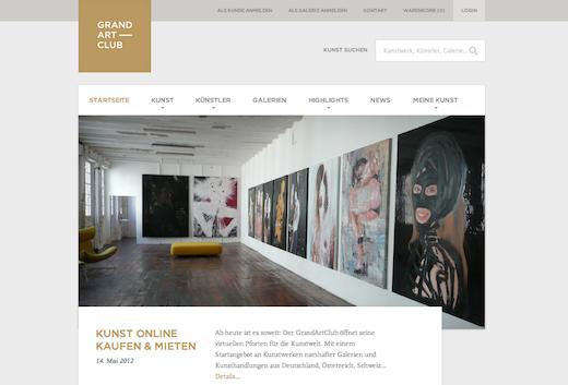 GrandArtClub – Marktplatz für bildende Kunst