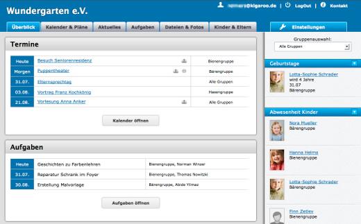 KigaRoo Portal-Übersicht - Deutsche Start-ups