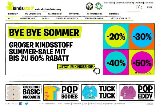 kindsstoff: Re-Commerce mit sozial und ökologisch verantwortlicher Babykleidung