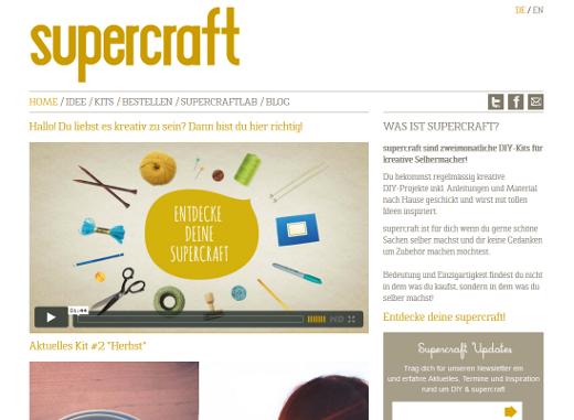 Supercraft: Überraschungsbox mit Handarbeits-Projekten im Abonnement