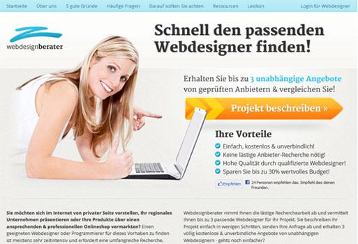 Mit dem Webdesignberater können sich Kunden und Webworker leichter finden