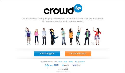 CrowdUp – Ein Marktplatz für Gruppenkäufe auf Facebook
