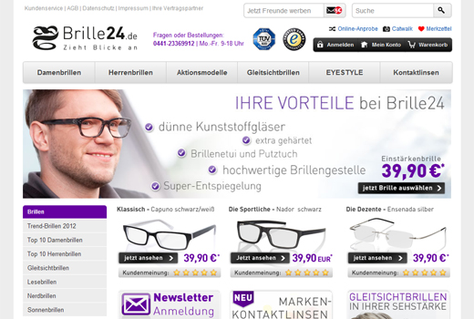 5 neue Deals: Brille24.de, miBaby, castaclip, KochAbo.at, Data Dealer