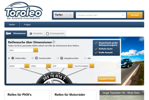 Toroleo vergleicht Reifen und Felgen – Project A Ventures rollt seinen Preisvergleich ins Netz
