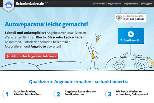 Mit SchadenLaden.de bleibt Möller Ventures der KFZ-Branche treu