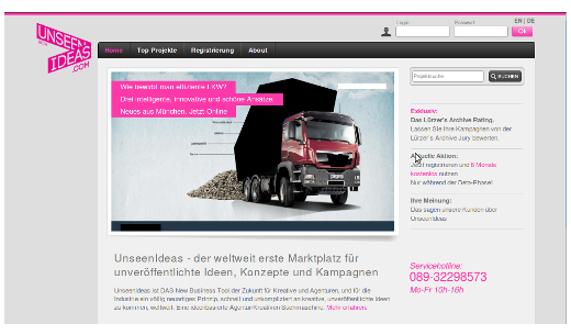 Unseenideas: Online-Marktplatz für unveröffentlichte Ideen