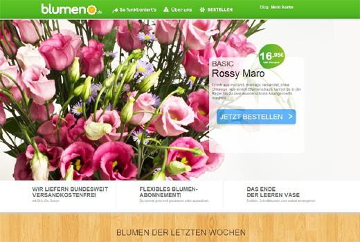 Blumen im Abo: blumeno.de fordert Bloomy Days und Miflora.de heraus