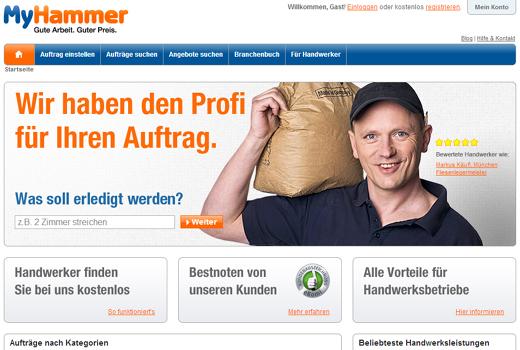 Branchenbuch statt Ausschreibungen: MyHammer stellt seine Welt auf den Kopf