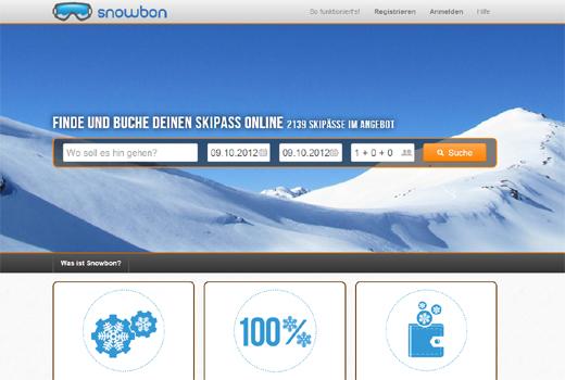 Mit Snowbon Skipässe online suchen, finden und buchen