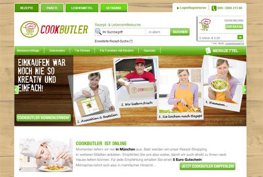 Bei Cookbutler kann jeder Rezepte durchstöbern und alle Zutaten bestellen