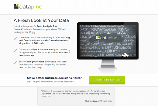Start-up-Radar: datapine