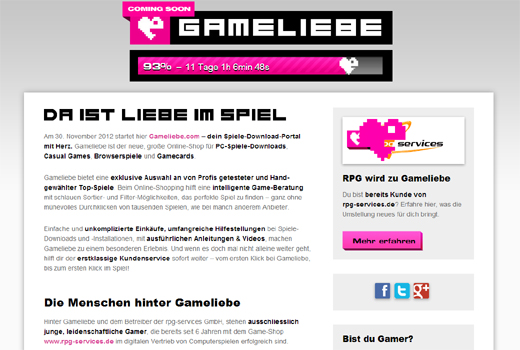 Start-up-Radar: Gameliebe
