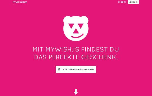 Mywish.is: Empfehlungsdienst für individuelle Geschenke zu jedem Anlass