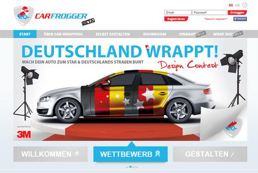 mit designs von carfrogger sein auto selbst gestalten deutsche news zu startups. Black Bedroom Furniture Sets. Home Design Ideas