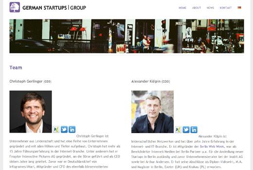 German Startups Group stemmt in 6 Monaten 6 Investments