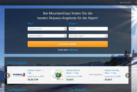 Dreikampf der Online-Skipass-Start-ups: MountainDayz vs. skipass24 vs. Snowbon